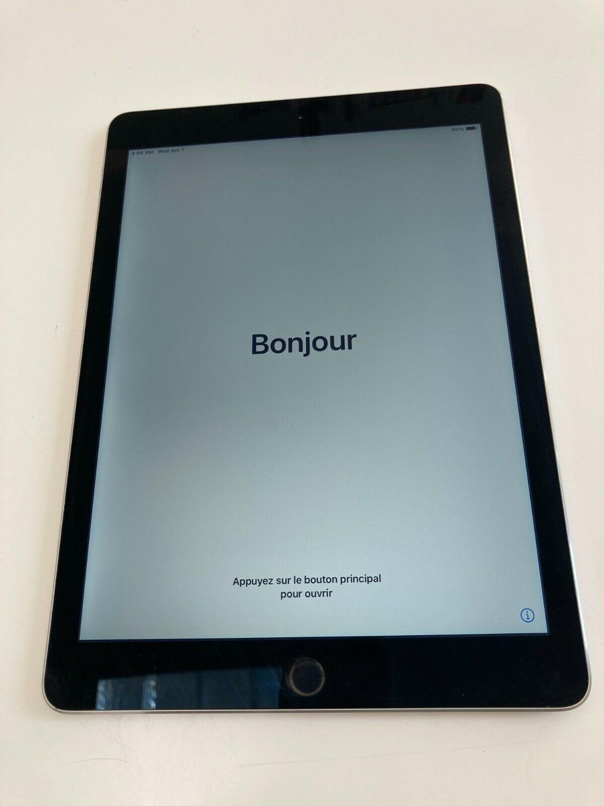 "Apple ipad air 2 - a1566 - 9,7"" - 32gb - wifi - gris sidéral - bon état"