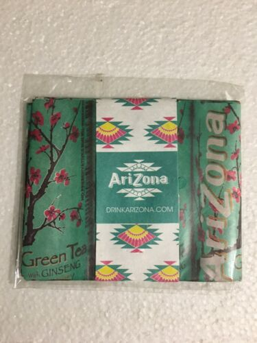 Arizona Iced Tea Promotional Tyvek Paper Wallet ~ Extremely Rare ~New in Package