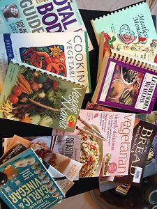Lot of Cook Books - Some Vegetarian