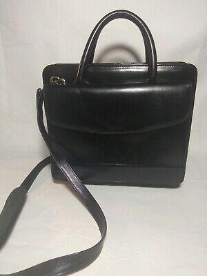 Compact Franklin Quest Black Leather Zip Planner Binder Bag Holder