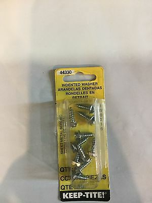Dorman Products 44330 Sheet Metal Screws Indented Washer  8 X 1 2  Pkg  Of 10