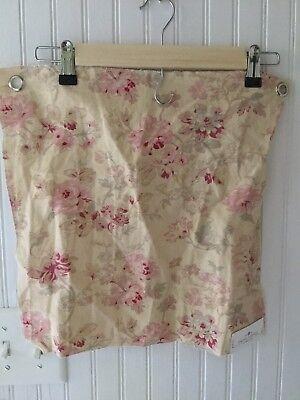 Shabby Chic Rambling Rose Butter Fabric Sample 16x16 Rachel Ashwell Floral Linen for sale  Mobile