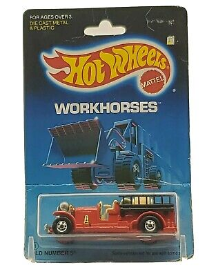 Hot Wheels Old Number 5 Workhorses Series #1695 New 1986 Red Hong Kong 1:64