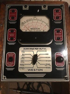 Vintage Weston Model 772 Analog Multimeter In Wood Case