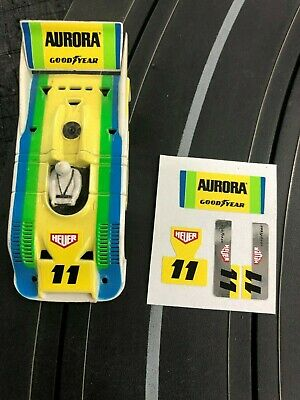 AFX 917K/10 - CHROME SERIES - YELLOW/GREEN/BLUE DECAL SET