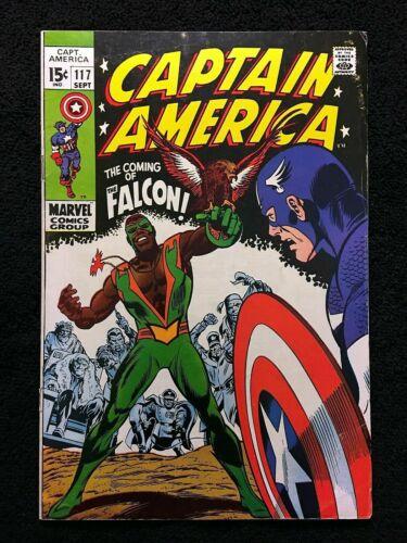 Captain America #117, FN+ 6.5, 1st Appearance Falcon