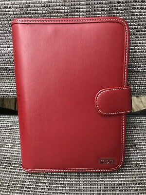 Franklin Covey Day One Classic Planner - Red Simulated Leather - 10t X 7w