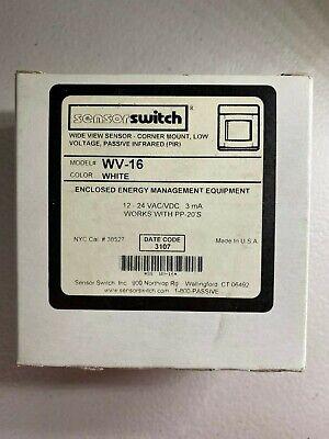 Sensor Switch Wv16 - Wide View Motion Sensor Corner Mount Low Voltage - New