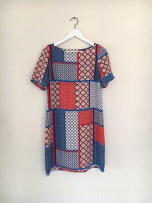 hi there from Karen Walker size 8 Mosaic Tile Shift dress