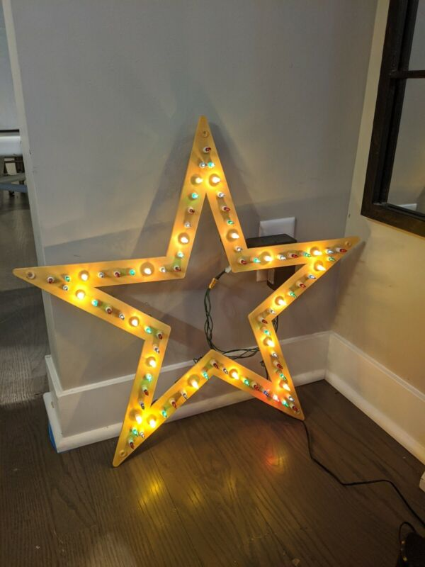 """Noma 23"""" Marquee Star Vintage 80 Light Steady Or Chasing Christmas Star Light"""