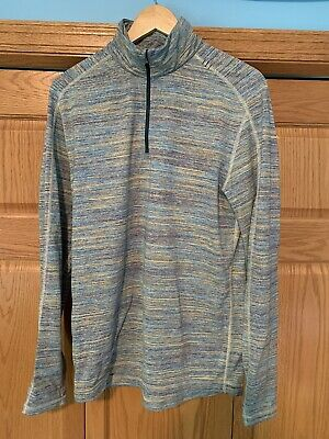 Lululemon Men's Quarter Zip Pullover Long Sleeve Top, Multi Color, Medium