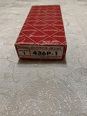 Starrett 436p-1 Outside Micrometer 0-1 Range .001 Graduation