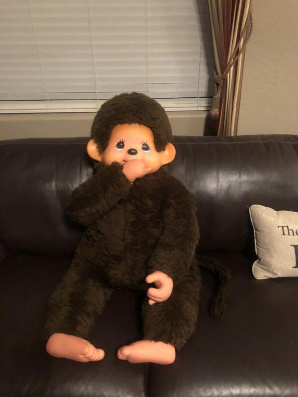 Big 39 Inches 100 CM Monchhichi Monchichi Sekiguchi Monkey Doll Thumb Sucker