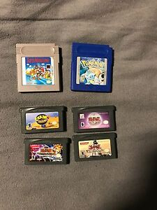 Game boy Advanced and Game boy colour games