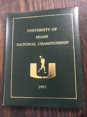 1987 University of Miami Hardcover Book
