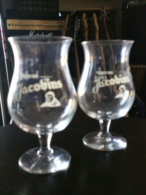 2X BOCKOR BREWERY BIRES DES JACOBINS Framboise Lambic 25cl Beer Glasses, Belgium