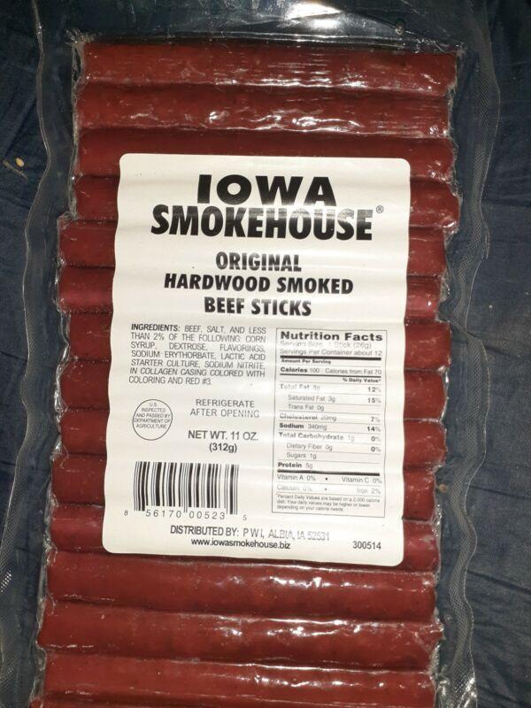 Pack of Iowa Smokehouse IS-HS11 Hardwood Smoked Beef Sticks, Original, 11oz!