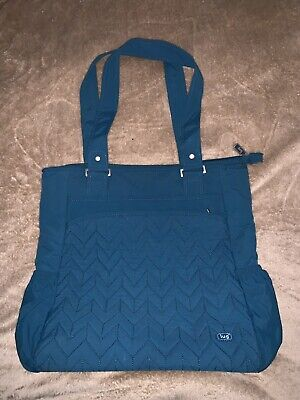 LUG CABBY TOTE OLD DESIGN OCEAN BLUE LOTS OF COMPARTMENTS for sale  East Falmouth