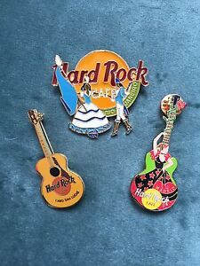 Hard Rock Cafe collectable pins (3)