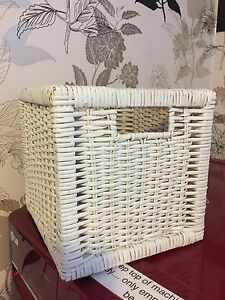IKEA White Square Basket
