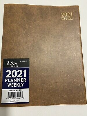 2021 Weekly Planner Brown 8x10 Calendar Organizer Elite Appointment Book