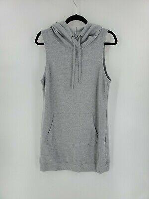Fabletics Women's Dress Yukon Sleeveless Hoodie Sweatshirt Cotton Gray Size XL