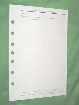 Classic 1 Year 12 Expense Envelopes Franklin Covey Planner Refill