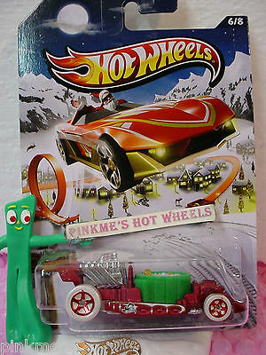 2013 Holiday Hot Rods #6/8 HOT TUB∞Satin Red/Green∞Hot Wheels Walmart Excl](Walmart Tubs)
