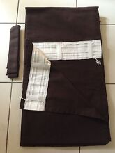 Pair of choc ikea curtains for tracks OR rods Mudgeeraba Gold Coast South Preview