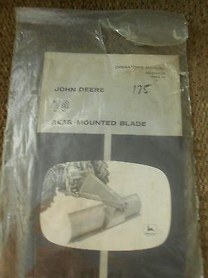 Vintage John Deere 78 Rear-mounted Blade Operators Manual - New