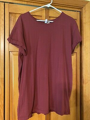 Divided Womens H&M Basic Tee - Red - Size Large