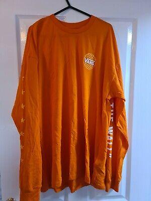 Vans Orange Long Sleeve Oversized Top Size Large