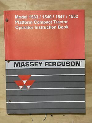 Massey Ferguson Model 1533154015471552 Compact Tractor Operator Instruction