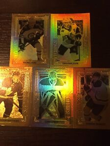 Tim Hortons gold etch and superstar showcase cards