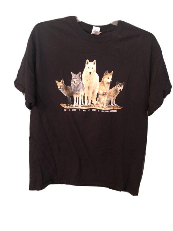 WILD SPIRIT WOLF SANCTUARY Black Tshirt
