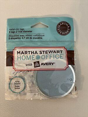Martha Stewart Home Office Blue Metal Rim Tags 2 14 Diameter New 5 Tags