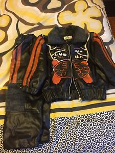 Leather jacket and pants new