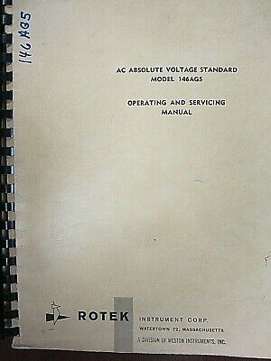 Rotek Ac Absolute Voltage Standard Model 146ag5 Operating Service Manual