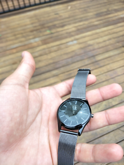 Ck replica stainless steel grey watch