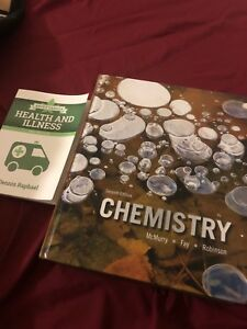 For sale Pearson chemistry and health and illness text book  .