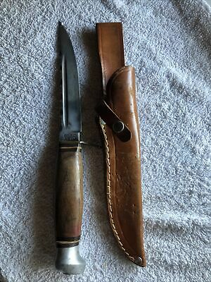 Vintage Olsen 2700 R Fixed Blade Knife With Leather Sheath Solingen Germany