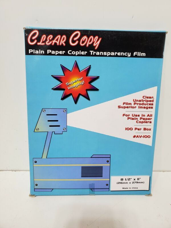 "Clear Copy Transparency Film Copier *100 SHEETS* 8.5"" x 11"""