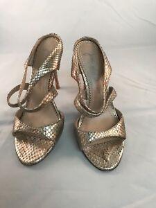 Jean Michel cazabat gold rare sandals