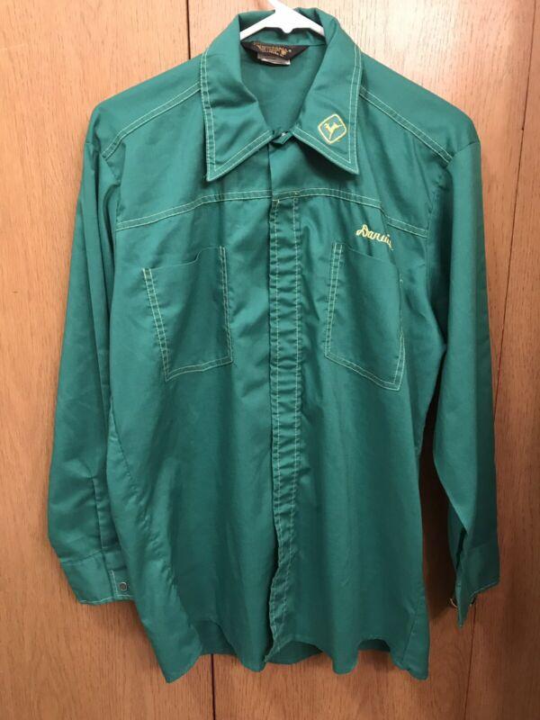 John Deere Vintage ProTexAll Reverse Stitch Snap Front Med Shirt