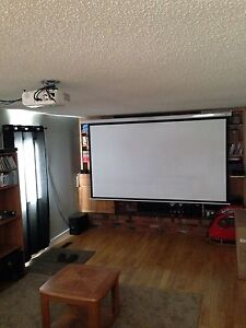 Projector, screen, Bose stereo, PS3