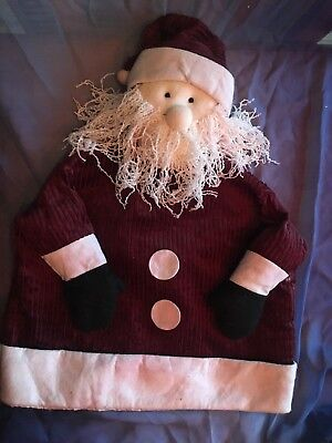 Santa Claus Elf (Classic Wine Santa Claus Elf Christmas Holiday Chair Back Cover Maroon)