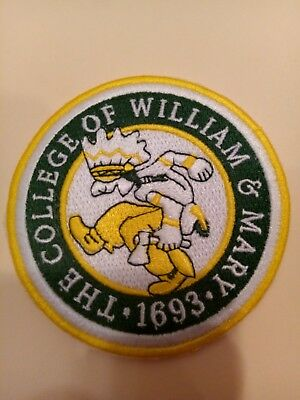 "The College of William and Mary Vintage EMBROIDERED IRON ON PATCH 3"" x 3"""
