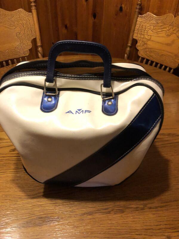 AMF Strikeline Bowling Ball And Vintage Bag