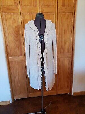 Indigo Rose Cream Ruffled Long Sleeve Sweater Size XL Indigo Long Sleeve Sweater