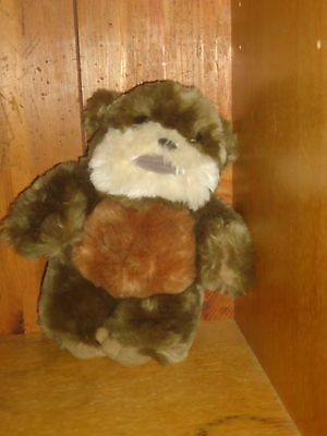 "Star Wars Bean Bag Plush Ewok 9"" Brown Beige"